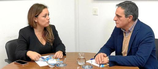 Alejandra Ferrer y José Vicente Marí Bosó, ayer, en Formentera.
