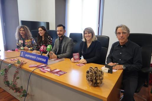 Rueda de prensa de la presentación de la campaña en el ayuntamiento de Ibiza