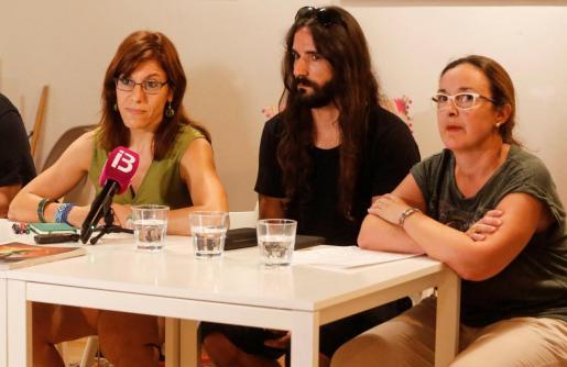 Laura Camargo, Baltasar Picornell y Sabina Riera, en una imagen de archivo.