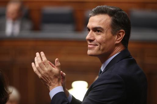 El presidente del Gobierno en funciones, Pedro Sánchez, durante la sesión de constitución de las Cortes para la XIV Legislatura en el Congreso de los Diputados, Madrid (España), a 3 de diciembre de 2019..