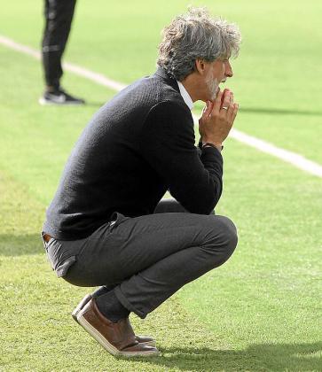 Pablo Alfaro, durante el partido contra el Melilla.