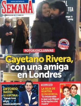 Cayetano Rivera y Karelys Rodríguez en la portada de 'Semana'.