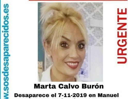Cartel de la desaparición de Marta Calvo.