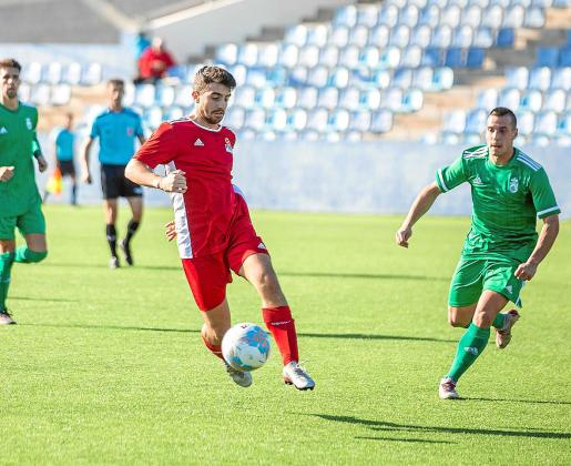 Un lance del encuentro entre las selecciones de Balears y Cantabria.