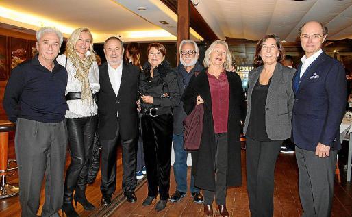 Toni Juan Garau, Xisca Ramis, Vicenç Rotger, Amelia Forteza, Guillem Mudoy, Tita Rotger, Mónica Llop y Luis Quetglas.