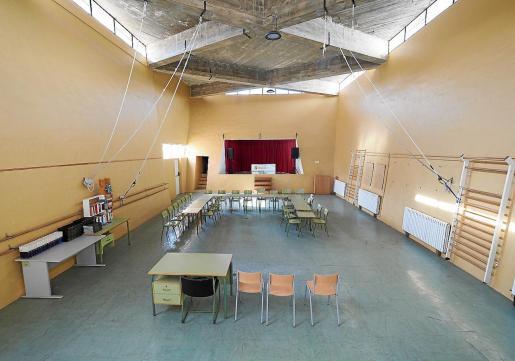 Las obras de modificación adecuarán el actual gimnasio como zona de acogida.