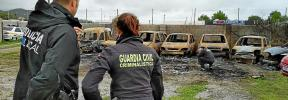 La Guardia Civil investiga la autoría del incendio en el depósito de Sant Josep