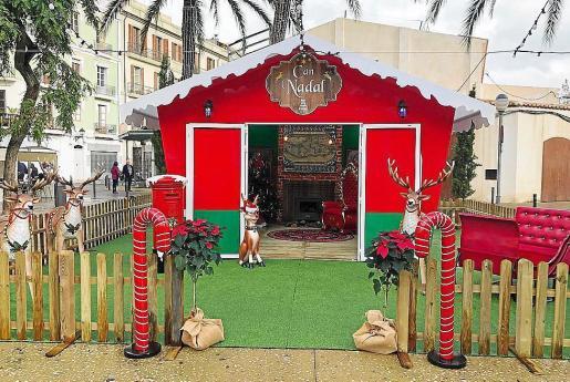 El año pasado la casa de Papá Noel se instaló en la plaza del Parque