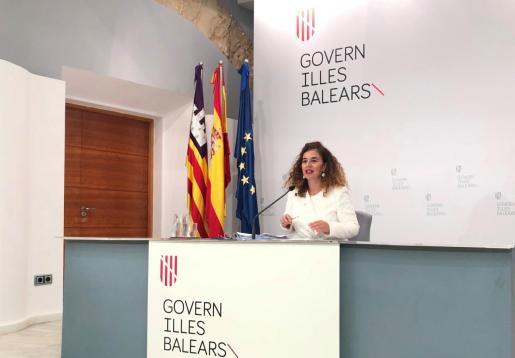 Pilar Costa, portavoz del Govern, ayer en la rueda de prensa del Consell de Govern.