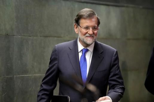 """El expresidente del gobierno Mariano Rajoy, durante la presentación de su libro """"Una España mejor""""."""