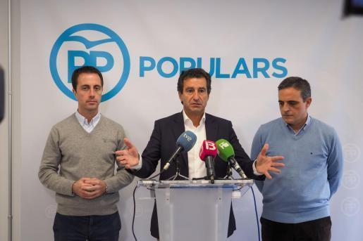 Company en una foto de archivo, durante una rueda de prensa en la sede del PP