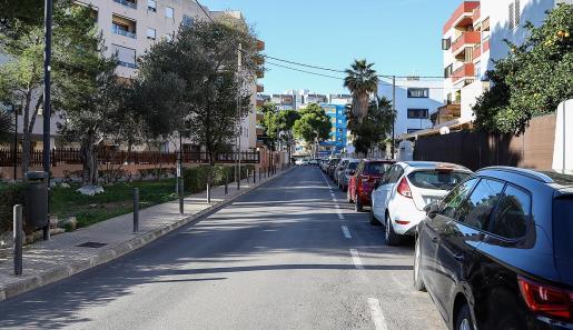 El ataque del perro se produjo en la calle Pablo Picasso, en Platja d'en Bossa.