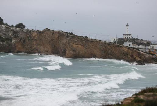 Imagen de uno de los últimos temporales en la costa de Ibiza