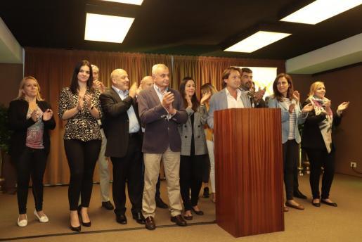 Imagen del equipo de Vox en Baleares en la jornada electoral.