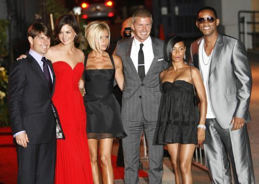 Tom Cruise y su esposa Katie Holmes son grandes amigos del matrimonio Beckham.