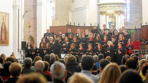 Una imagen del concierto ofrecido por el Cor Ciutat d'Eivissa.