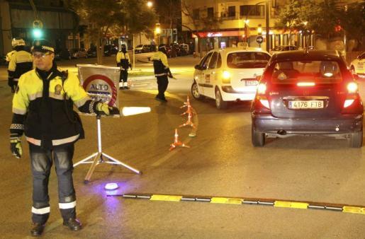Control de alcoholemia de la policía.