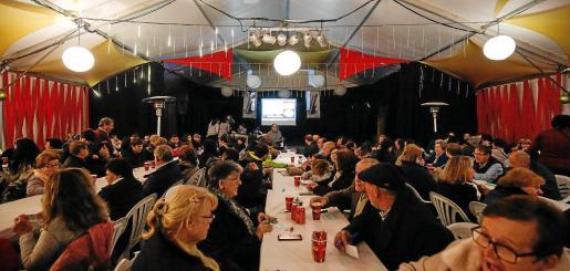 Imagen del bingo celebrado por la AAVV Sa Raval.