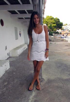 La modelo Malena Costa, durante unas vacaciones en Mallorca.