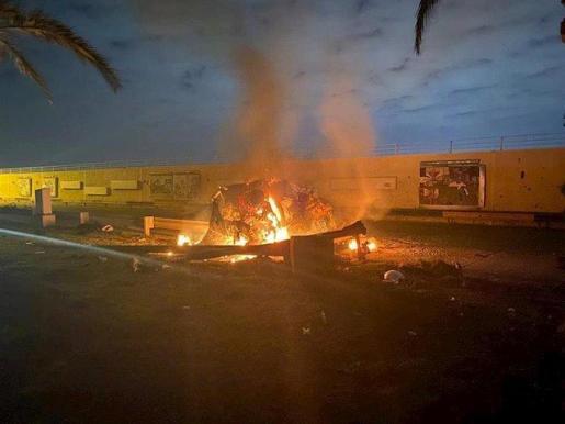 Tres misiles impactan cerca del Aeropuerto Internacional de Bagdad.