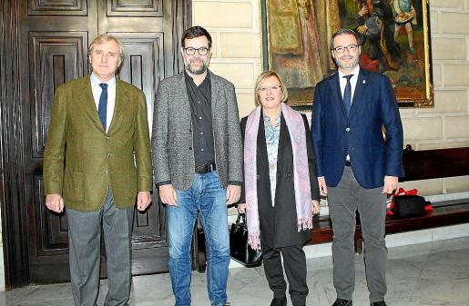 Tomeu Bestard, Antoni Noguera, Rosa Planas y José Hila.