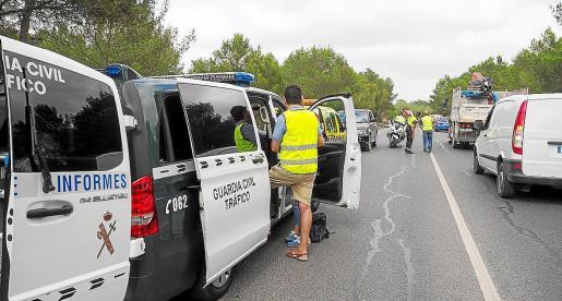 Accidente de un motorista en el mes de junio en Sant Rafel.