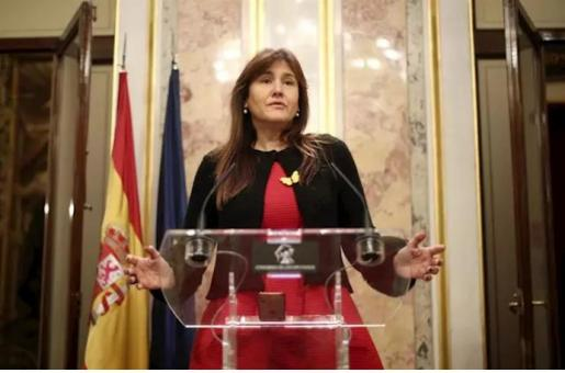 a portavoz parlamentaria de Junst per Catalunya (JxCat), Laura Borràs, ofrece una rueda de prensa en el Congreso - Eduardo Parra - Europa Press
