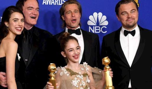 El equipo de Érase una vez en Hollywood celebra su victoria en los Globos de Oro - GETTY