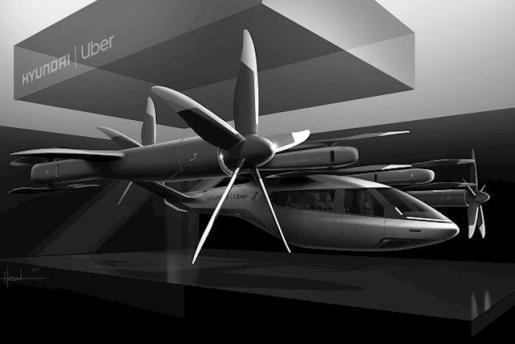 Imagen del prototipo de Hyundai y Uber.