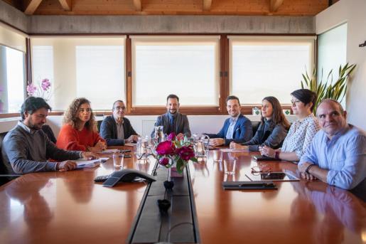 Última reunión del Consejo de Capitalidad, celebrada el 12 de diciembre en Can Botino, en la que se aprobó la remodelación del parquin de Sa Joveria.