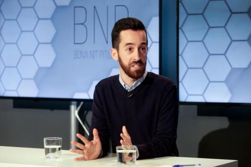 Javier Torres, ayer en el plató de la TEF durante el programa BNP.