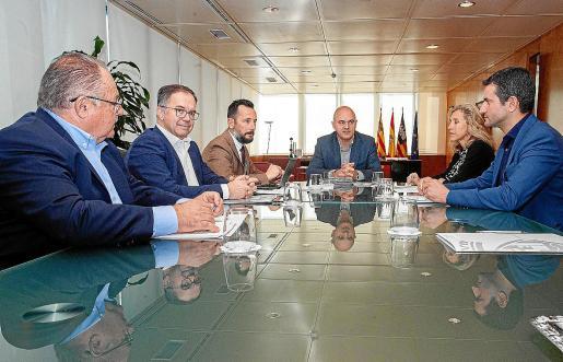 Momento de la reunión del Consejo de Alcaldes en el que se presentaron los PIOS.