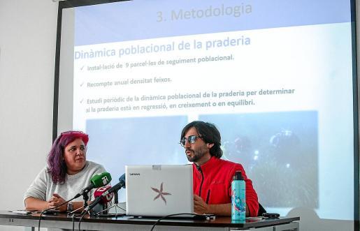 Mónica Fernández y Xisco Sobrado, ayer, en rueda de prensa.