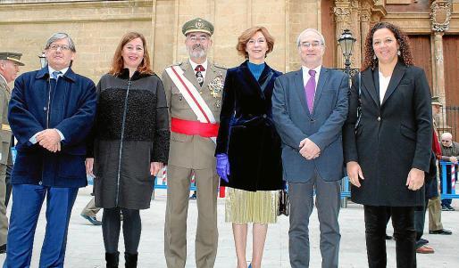 Vicenç Thomás, Francina Armengol, Fernando García Blázquez, Bel Oliver, Ramón Morey y Catalina Cladera.