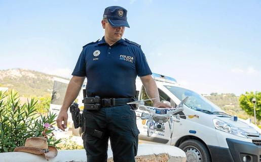 La Policía Local de Sant Josep se ha apoyado en numerosas actuaciones con el dron.