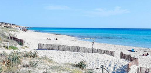 La playa de Migjorn.