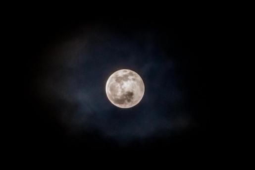 Eclipse lunar desde Ibiza.
