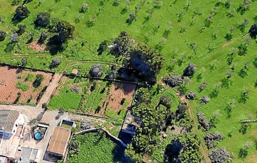 Imagen capturada por los satélites de Google Earth antes d elas obras ilegales