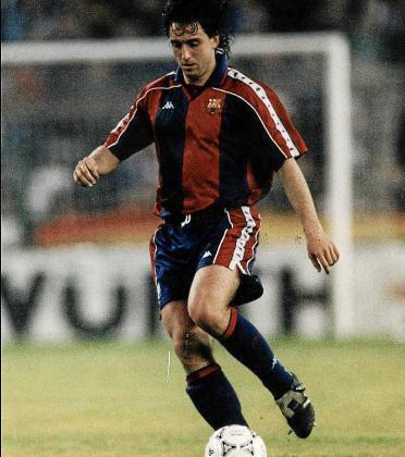 El técnico celeste Pablo Alfaro tiene pasado azulgrana. En la temporada 1992/93, Alfaro participó en siete encuentro ganando la Liga, la Supercopa de España y la de Europa.