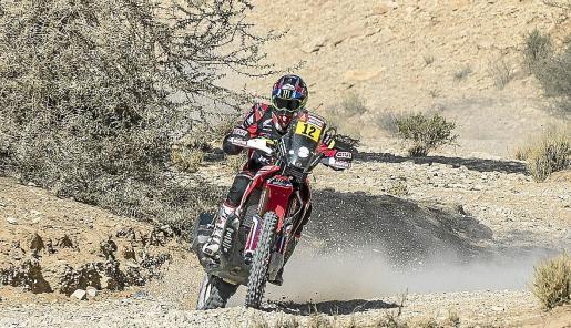 Joan Barreda, en acción durante la etapa de ayer.