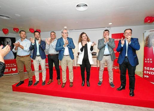 Imagen de archivo de un cierre de campaña el año pasado con Vicent Torres y Josep Marí Ribas.