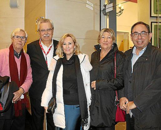 Joan Sempere, Josep Ferrer, Nanda Obrador, Xisca Roig y Gabriel Riera.