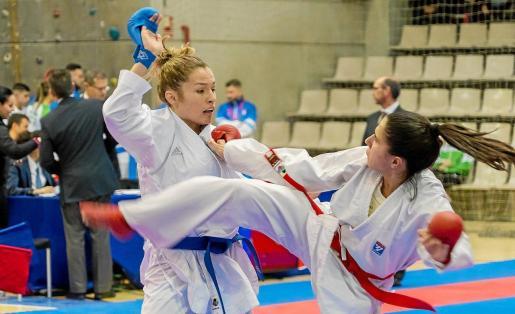 Cristina Ferrer, durante el Campeonato de España celebrado ayer.