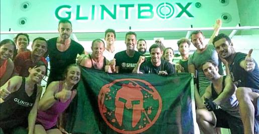 El equipo de Bfit Ibiza, en uno de los entrenamientos Spartan Race.