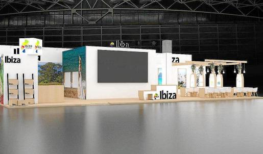 Simulación digital del estand de Ibiza para Fitur 2020.