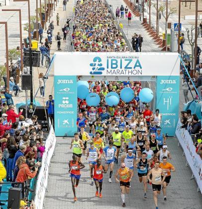 Una imagen de la edición del año pasado del Ibiza Marathon.