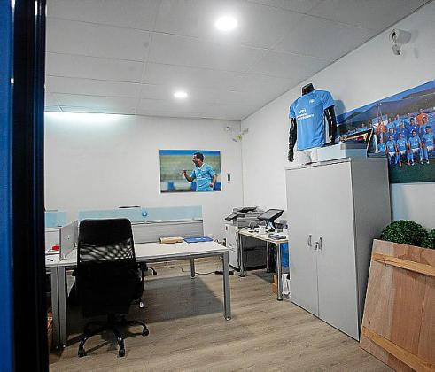 Una imagen de las oficinas de la UD Ibiza en Can Misses.
