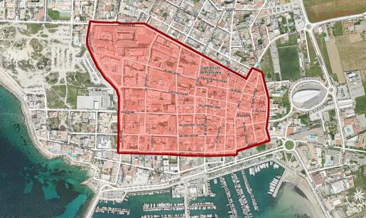El Govern aumentó la superficie que abarca la nueva normativa a petición del PP ya que inicialmente únicamente comprendía las calles Cristóbal Colón y Santa Inés.