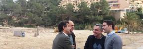 El PP visita Sant Miquel y pide ayudas por los daños causados por 'Gloria'