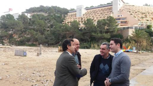 El PP visita Sant Miquel y pide ayudas por los daños causados por Gloria.